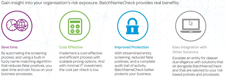 Batchnamecheck Benefits def